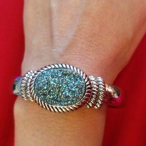 Jewelry - Genuine Drusy Bangle Bracelet Watch
